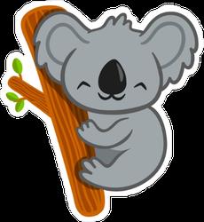 Smiling Cartoon Koala Sticker