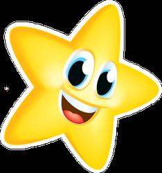 Smiling Gold Star Sticker
