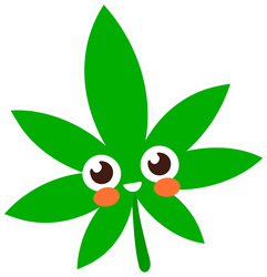 Smiling Happy Marijuana Leaf Cartoon Sticker