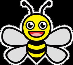 Smiling Honey Bee Sticker