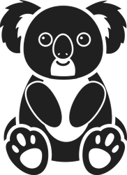 Smiling Koala Bear Sticker