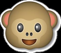 Smiling Monkey Emoji Sticker