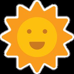 Smiling Sun Emoji Icon Sticker