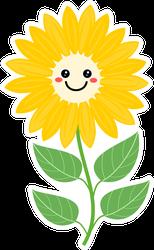 Smiling Sunflower Sticker