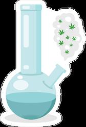 Smoking Glass Bong Sticker