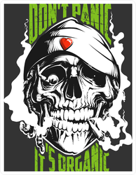 Smoking Rastaman Skull Sticker