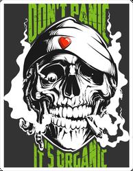 Smoking Rastaman Skull Sticker