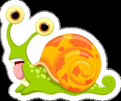 Snail Cartoon Sticker