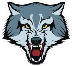 Snarling Wold Mascot Sticker
