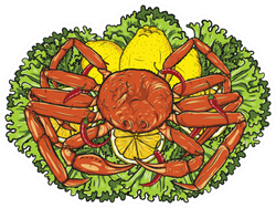 Snow Crab With Lemon And Vegetables Sticker