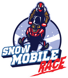 Snow Mobile Race Design Sticker