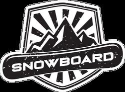 Snowboard Crest Logo Sticker