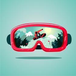 Snowboard Mask Sticker