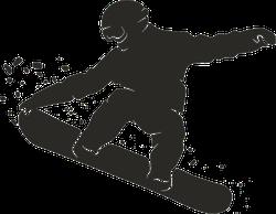 Snowboarder Jumping Silhouette Sticker