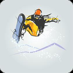 Snowboarder Sketch Sticker