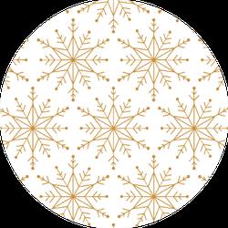 Snowflake  Golden Seamless Pattern Sticker