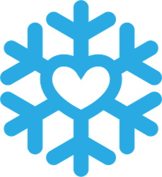 Snowflake Heart Icon Sticker
