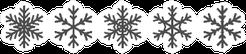 Snowflakes Icons Set Black Winter Silhouettes Sticker