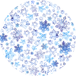 Snowflakes In Blue Christmas Seamless Pattern Sticker