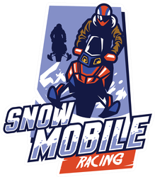 Snowmobile Racing Badge Sticker