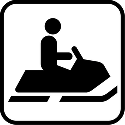 Snowmobiling Sign Icon Sticker