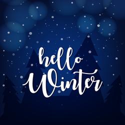 Snowy Hello Winter Sticker