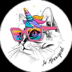 So Meowgical Cat Sticker