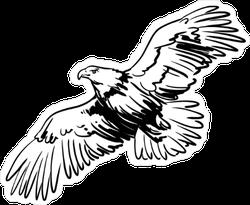 Soaring Eagle Illustration Sticker