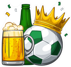 Soccer and Beer Sticker