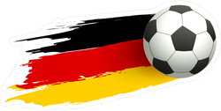 Soccer Ball And Flag Of Germany Sticker