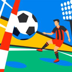Soccer Forward Sticker