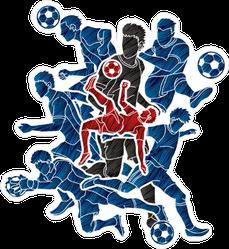 Soccer Team Composition Sticker