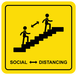 Social Distancing Stairs Sticker
