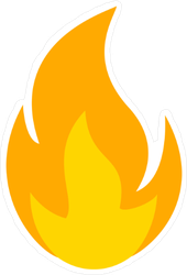 Soft Glowing Flame Sticker