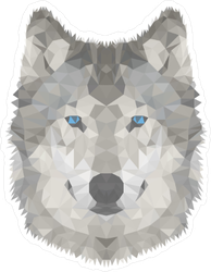 Soft Polygonal Wolf Sticker
