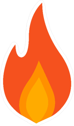 Soft Single Flame Sticker