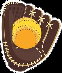 Softball Glove And Ball Sticker