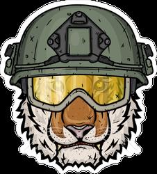 Soldier Tiger Sticker