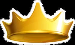 Solid Golden Crown Sticker