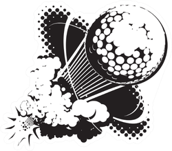 Sonic Boom Golf Ball Sticker