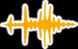 Sound Waves Sticker