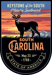 South Carolina Banner Sticker
