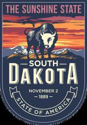 South Dakota Banner Sticker