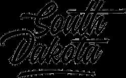 South Dakota Fancy Script Sticker