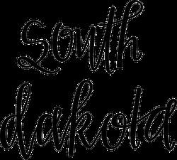 South Dakota Script Sticker