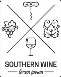 Southern Wine Elements Sticker