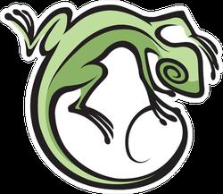 Southwest Lizard Abstract Sticker