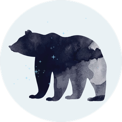 Space Bear Sticker