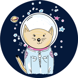 Space Cat Astronaut Sticker