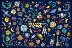 Space Doodles Sticker